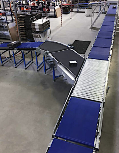 BLUlight aangedreven rollenbaansysteem