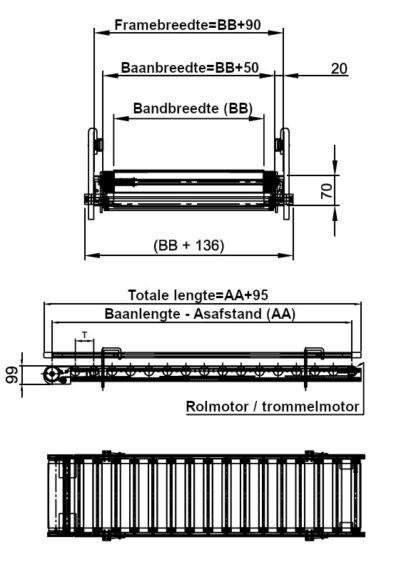 BLUlight bandtransporteur tekening